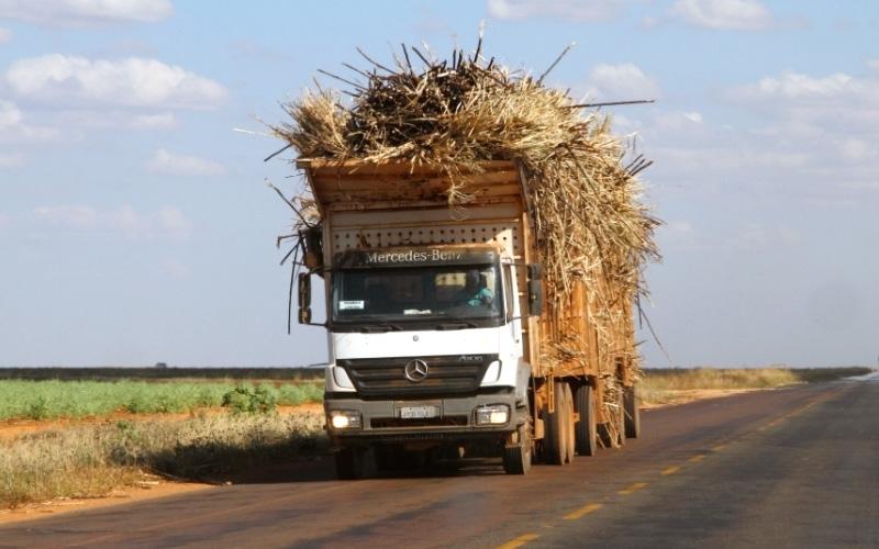Uso de lona em caminhão de cana-de-açúcar será obrigatório em todo o país a partir de 1º de junho