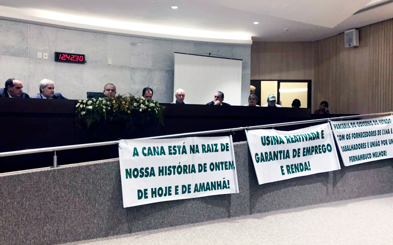 Programa Renovar que propõe revitalização da cultura da cana-de-açúcar no Nordeste é debatido na Assembleia Legislativa de PE