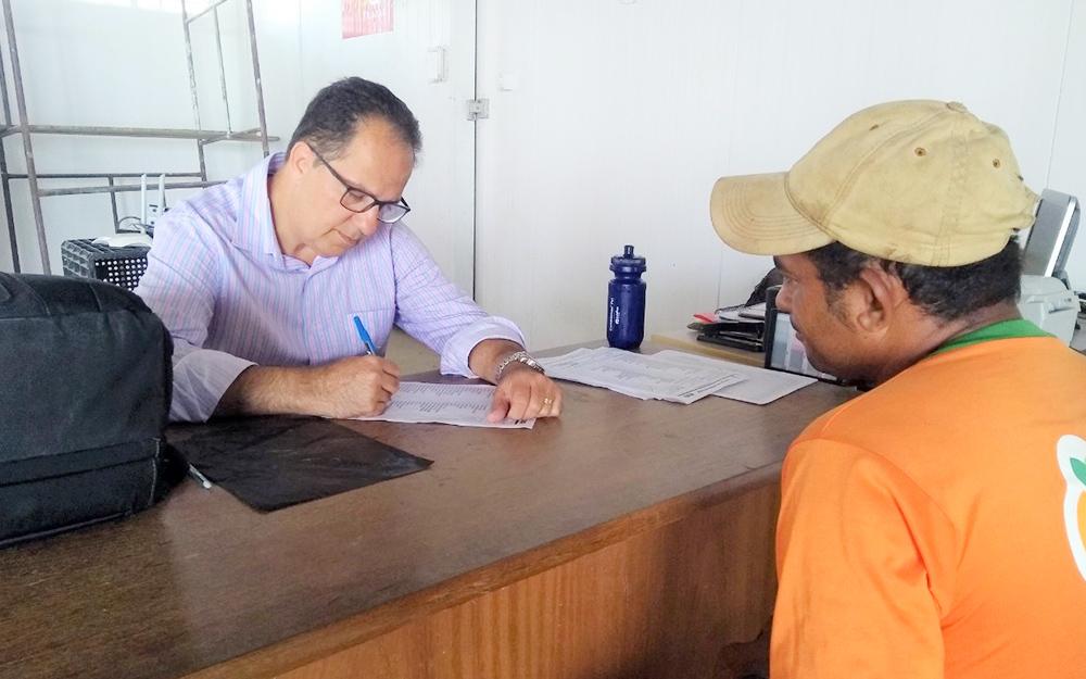 Exames admissionais para a safra 2019/2020 estão sendo  realizados na Asplan e nas sedes das propriedades rurais