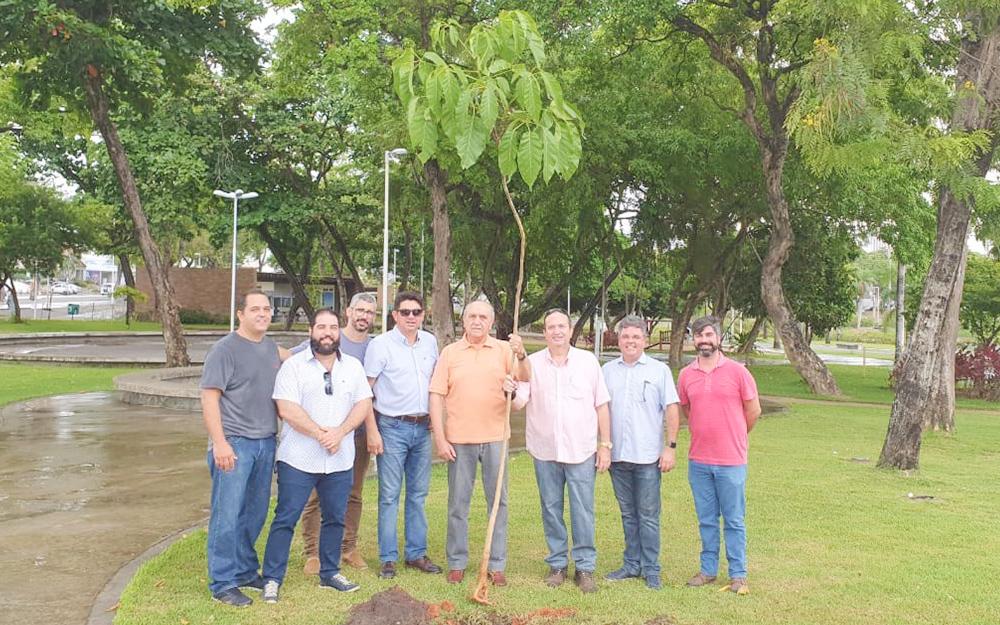 Plantio de Ipê Rosa no Parque Solon de Lucena marca agradecimento de familiares e amigos de Neto Siqueira pela recuperação de sua saúde