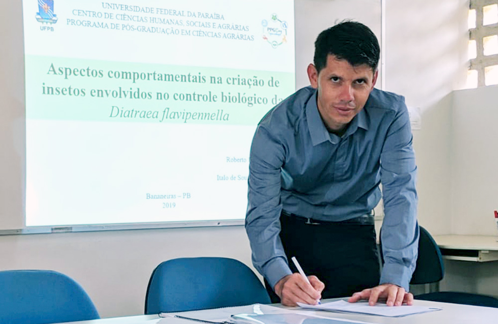 Biólogo paraibano tem artigo de mestrado sobre a Cotesia Flavips publicado em revista de renome nacional e internacional